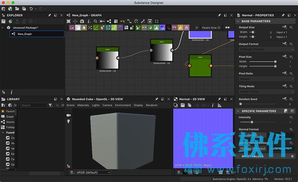 基于节点的3D材料制作软件Allegorithmic Substance Designer 英文版