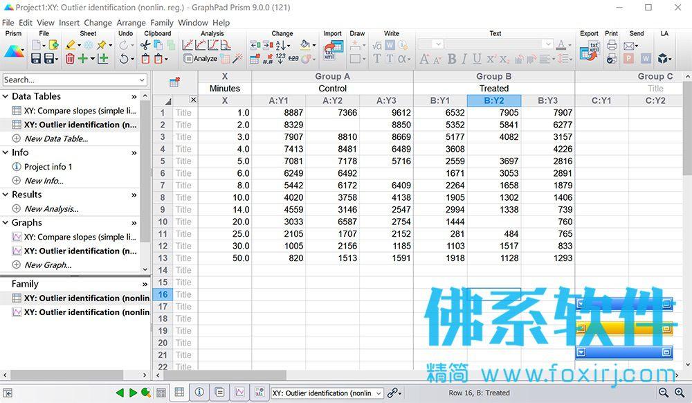 专业的科研数据绘图分析软件GraphPad Prism 英文破解版