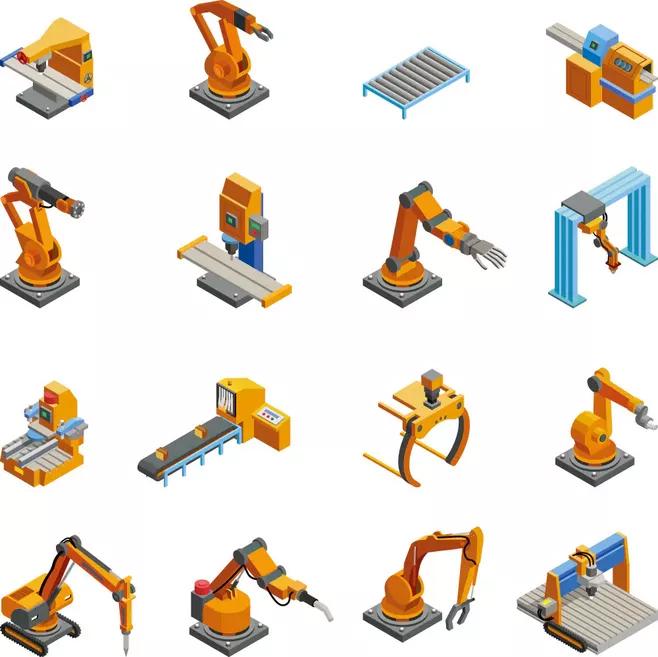 机械臂2.5D图标 AI源文件-13
