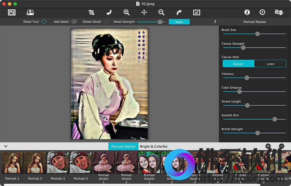 照片转油画效果软件JixiPix Portrait Painter 英文破解版