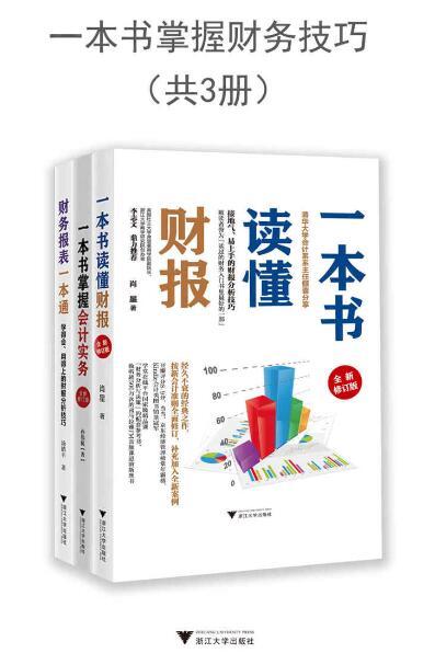 《一本书掌握财务技巧(套装共3册)》肖星/孙伟航 epub+mobi+azw3