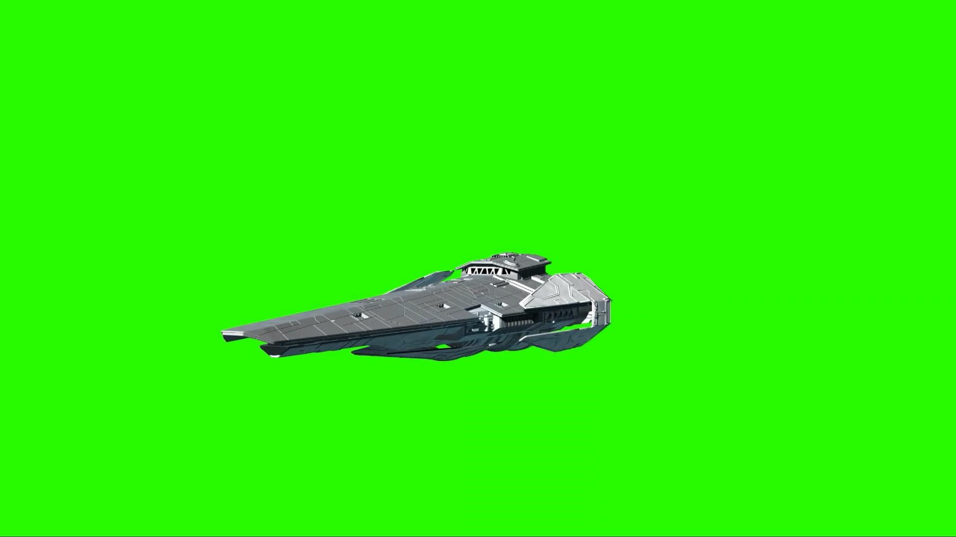 绿幕抠像-星球大战前线2宇宙飞船3D动画