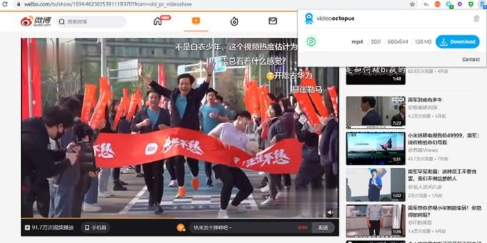 浏览器网页视频下载Video Octopus插件