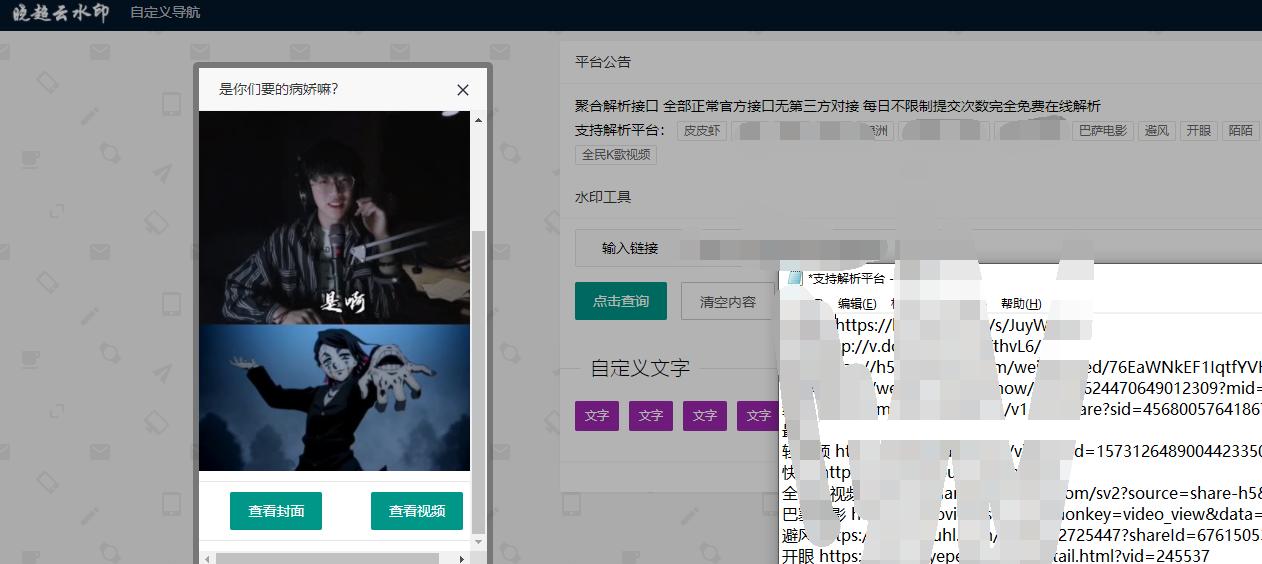 聚合短视频解析网程序源码
