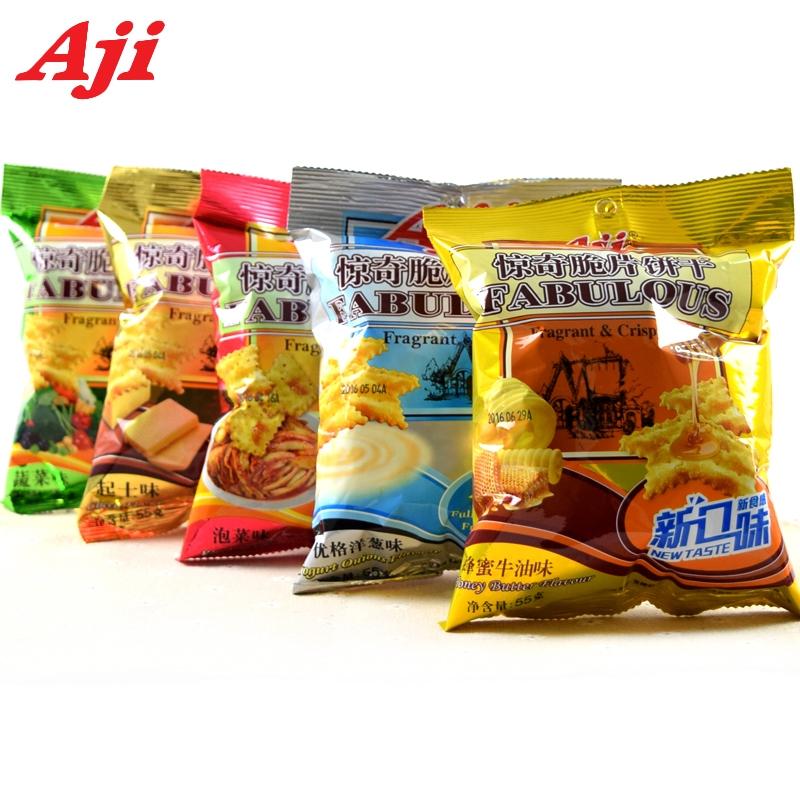 Aji惊奇脆片小包装酥脆多口味不规则蔬菜起士咸味网红零食小吃55g