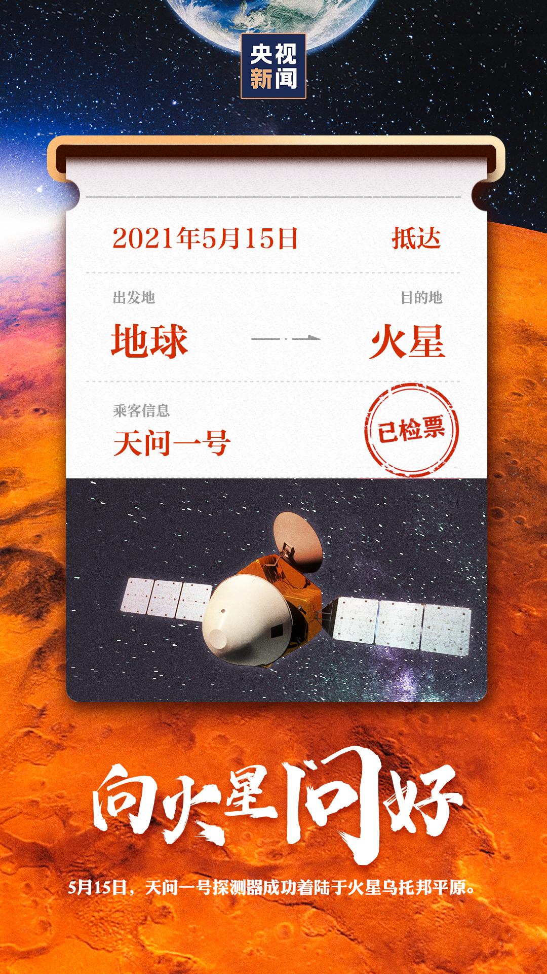 祝贺!成功着陆火星!