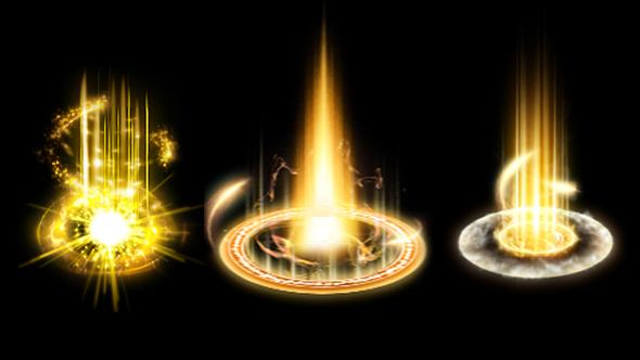 视频素材-6组游戏升级特效序列帧