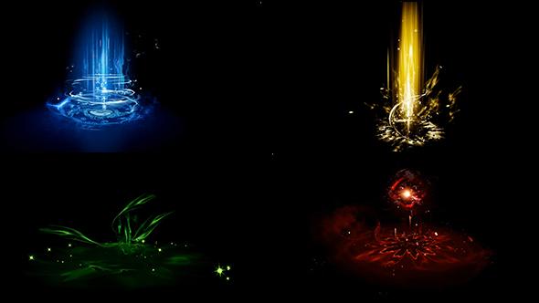 视频素材-27组游戏升级特效动画