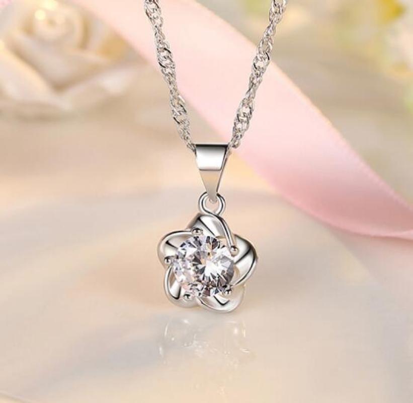 925纯银吊坠项链 女轻奢小众设计银物送女友闺蜜 冷淡风潮气质女