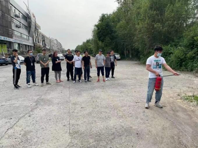 哈尔滨完美动力防火演练