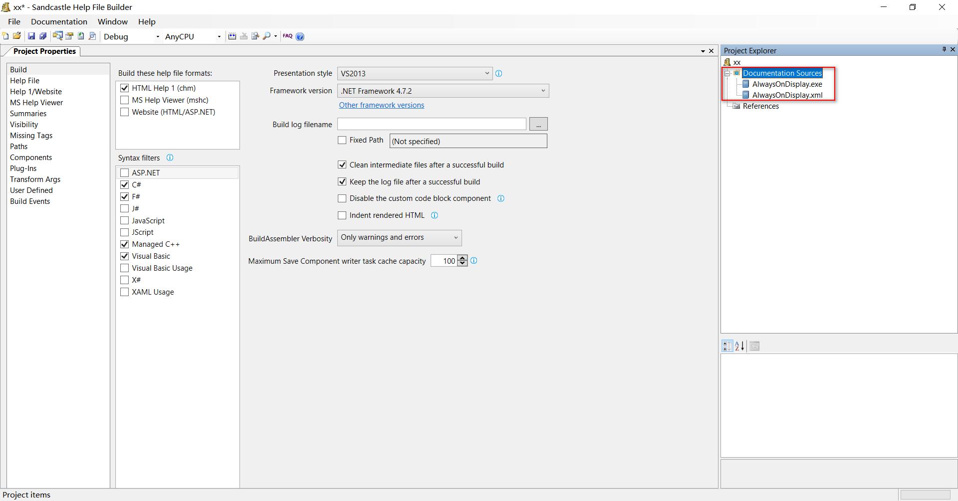 SHFB添加文件及配置