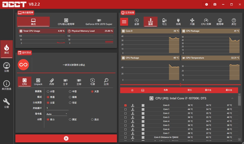 电源检测工具OCCT v9.0.0