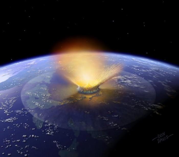 一张小行星撞击的图片