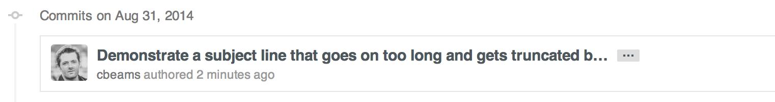 图3 GitHub 的字数超限截断