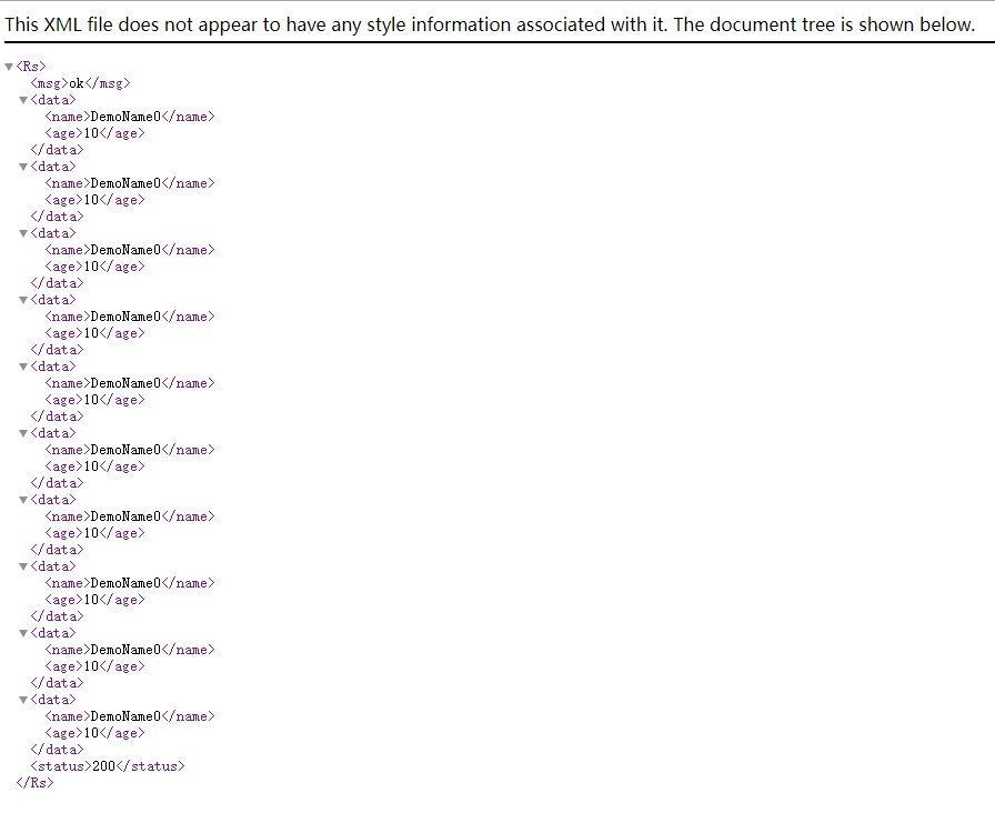 API XML Result