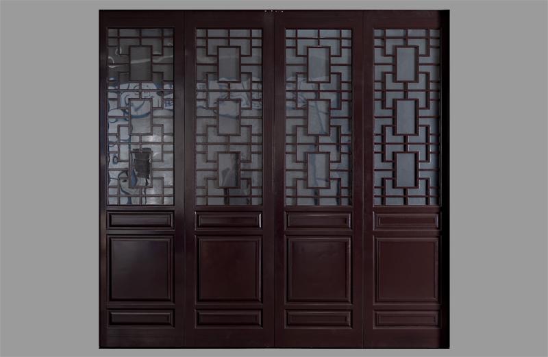 中式折叠车库门面板造型