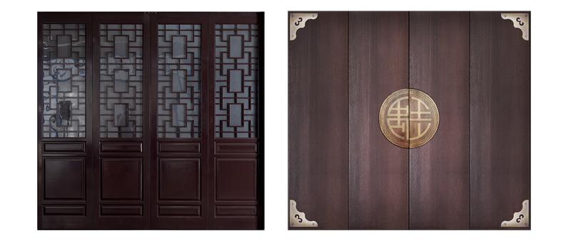 中式车库门典雅的面板造型
