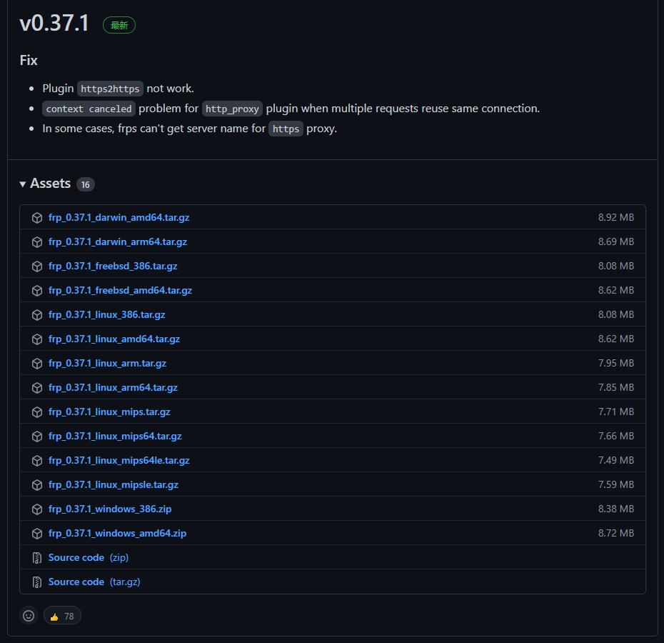 frp_v0.37.1内网穿透,内网服务公网用不求人